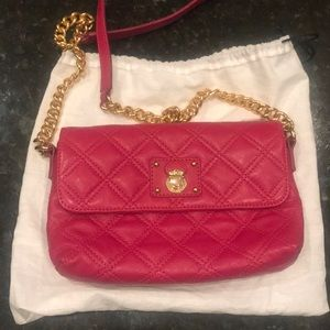Marc Jacobs bright pink crossbody bag